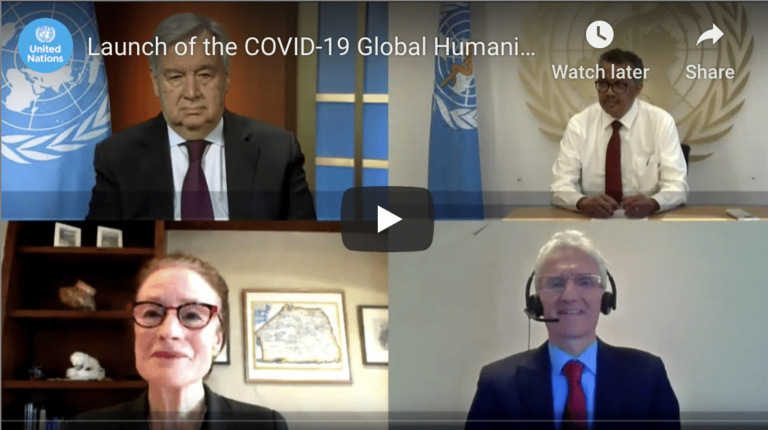 Un Launch of the COVID-19 Global Humanitarian Response Plan