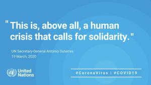 UN Global Humanitarian Response Plan for the coronavirus outbreak