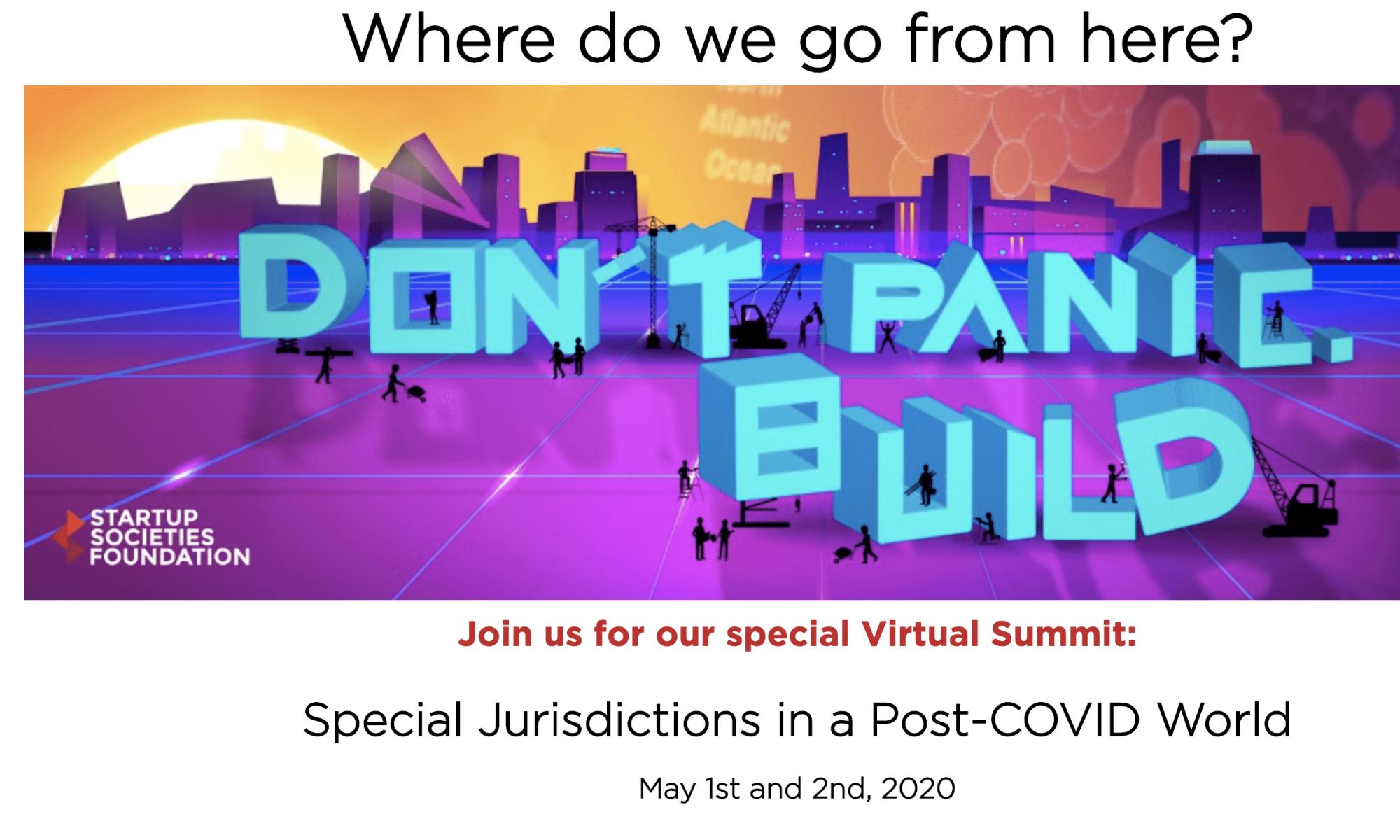 Virtual SSF Summit: Startup Societies in a Post-Covid World