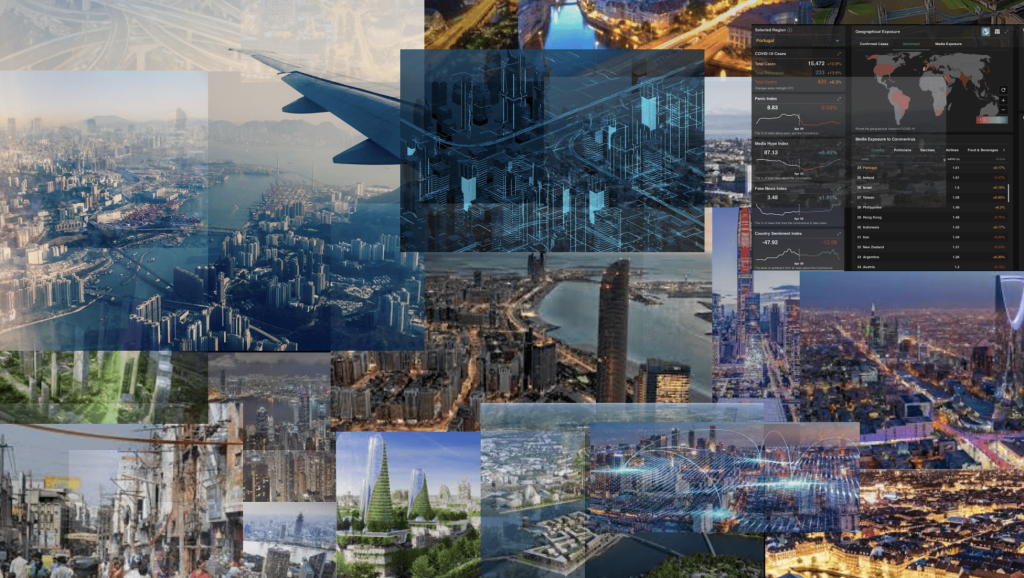 Technology and cities visualisation, image by Dinis Guarda for citiesabc.com