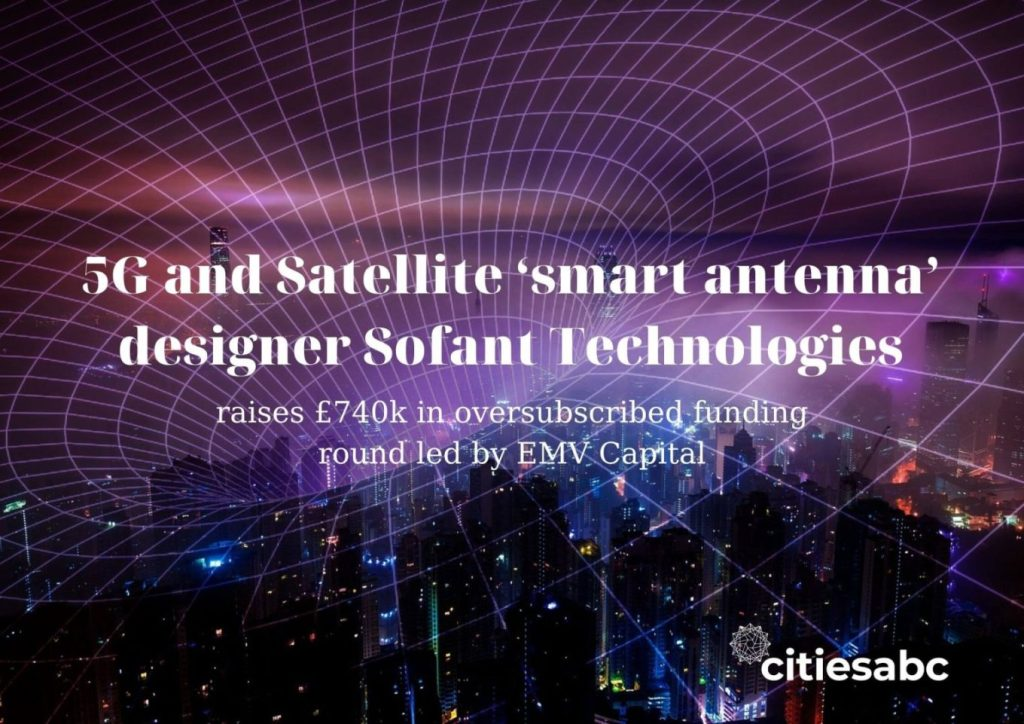 5G, satellite, smart antenna, Sofant Technologies, EMV Capital