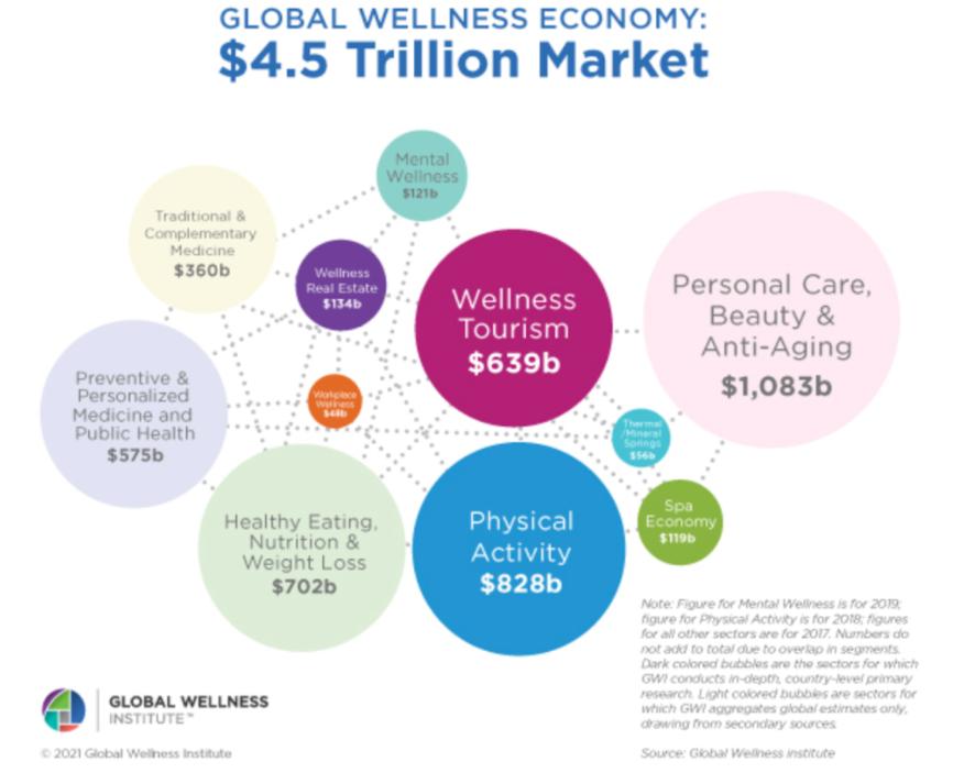 Wellness, Wellness Digital Economy, Meditation App, Holistic wellbeing